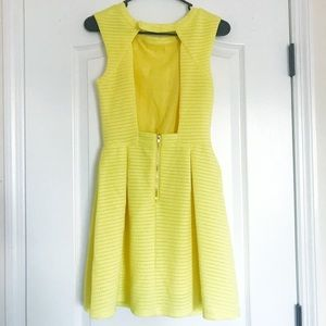Dresses - Yellow Open Back Dress